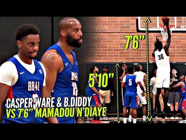 Baron Davis & 5'10 Casper Ware vs 7'6 Mamadou N'Diaye!! Got POPPIN' at The Drew!