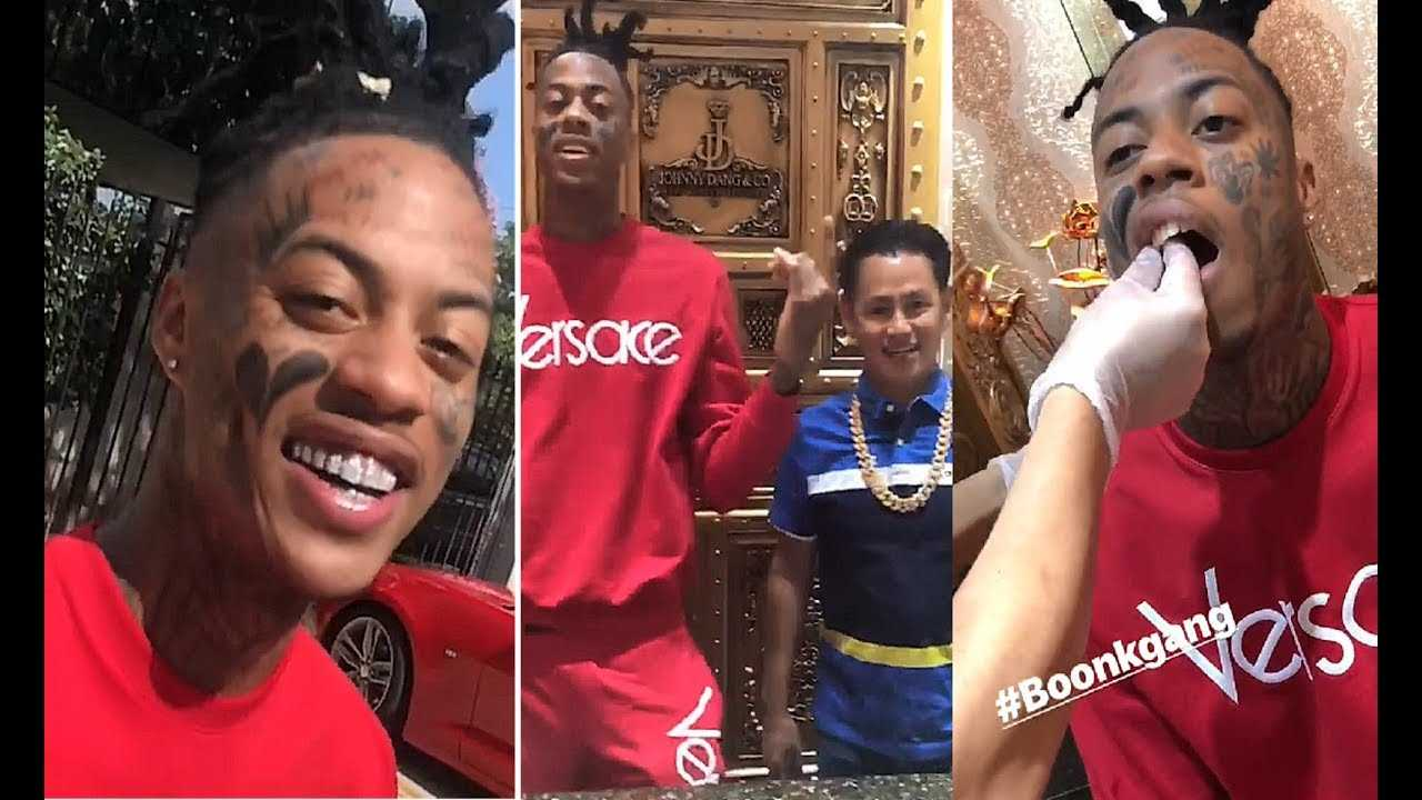 Boonk Gang Back After Losing His Instagram Page & Cops A Flawless Johnny Dang Grill