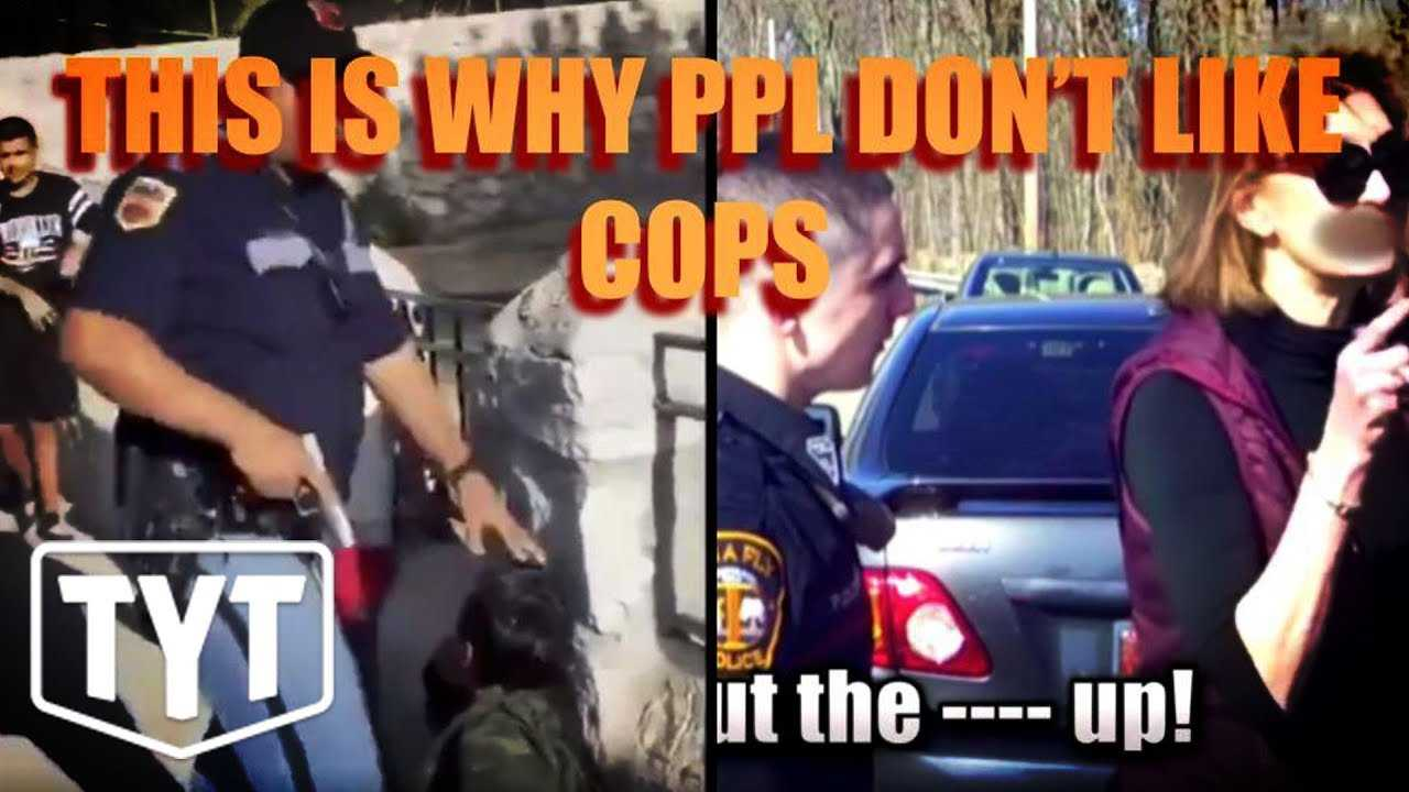 Cop Pulling a Gun and Beating Children
