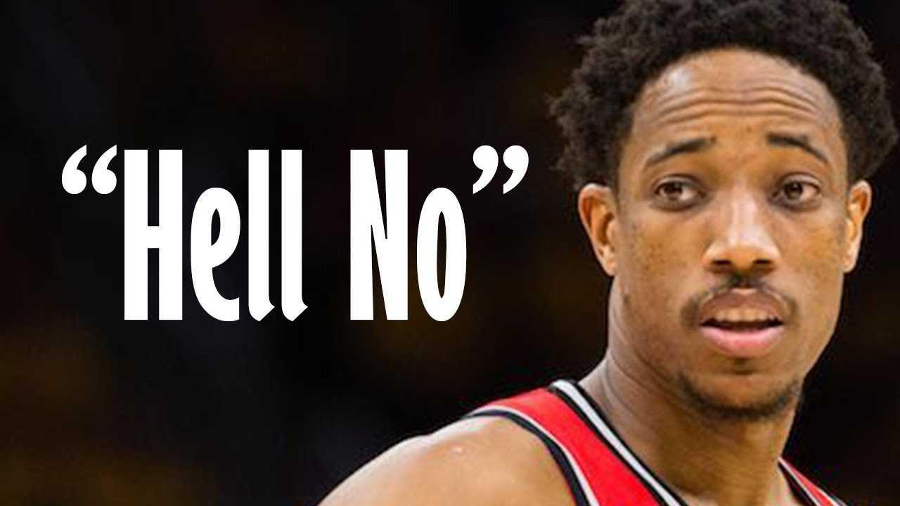 "DeMar Derozan Says ""Hell Nah"" To Playing With LeBron James!"