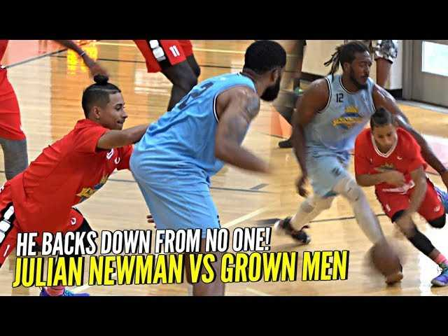 Julian Newman DOESN'T BACK DOWN vs Grown Men at Kingdom Summer League!