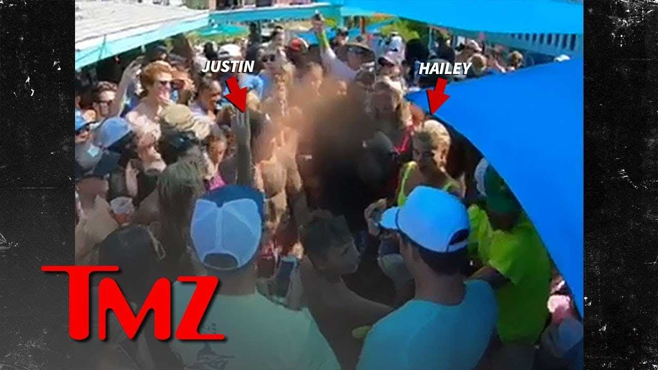 Justin Bieber & Hailey Baldwin Party with Locals in the Bahamas | TMZ