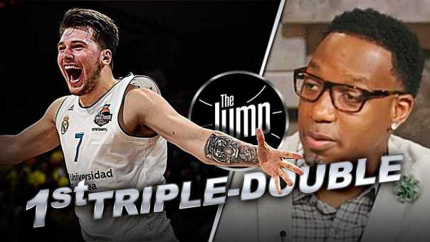 McGrady Reacts To Luka Doncic Recording 1st Triple-Double in Spanish League History | The Jump