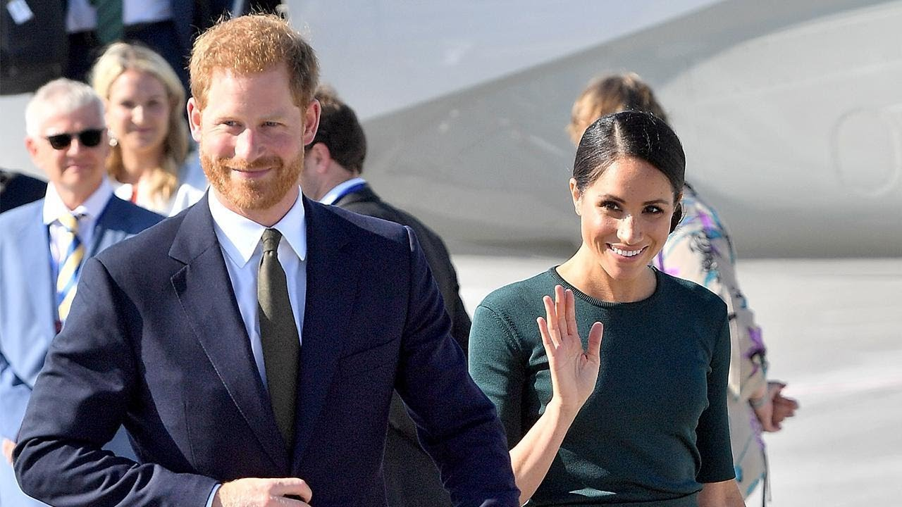 Meghan Markle and Prince Harry Are All Smiles While Arriving in Dublin for First Foreign Visit
