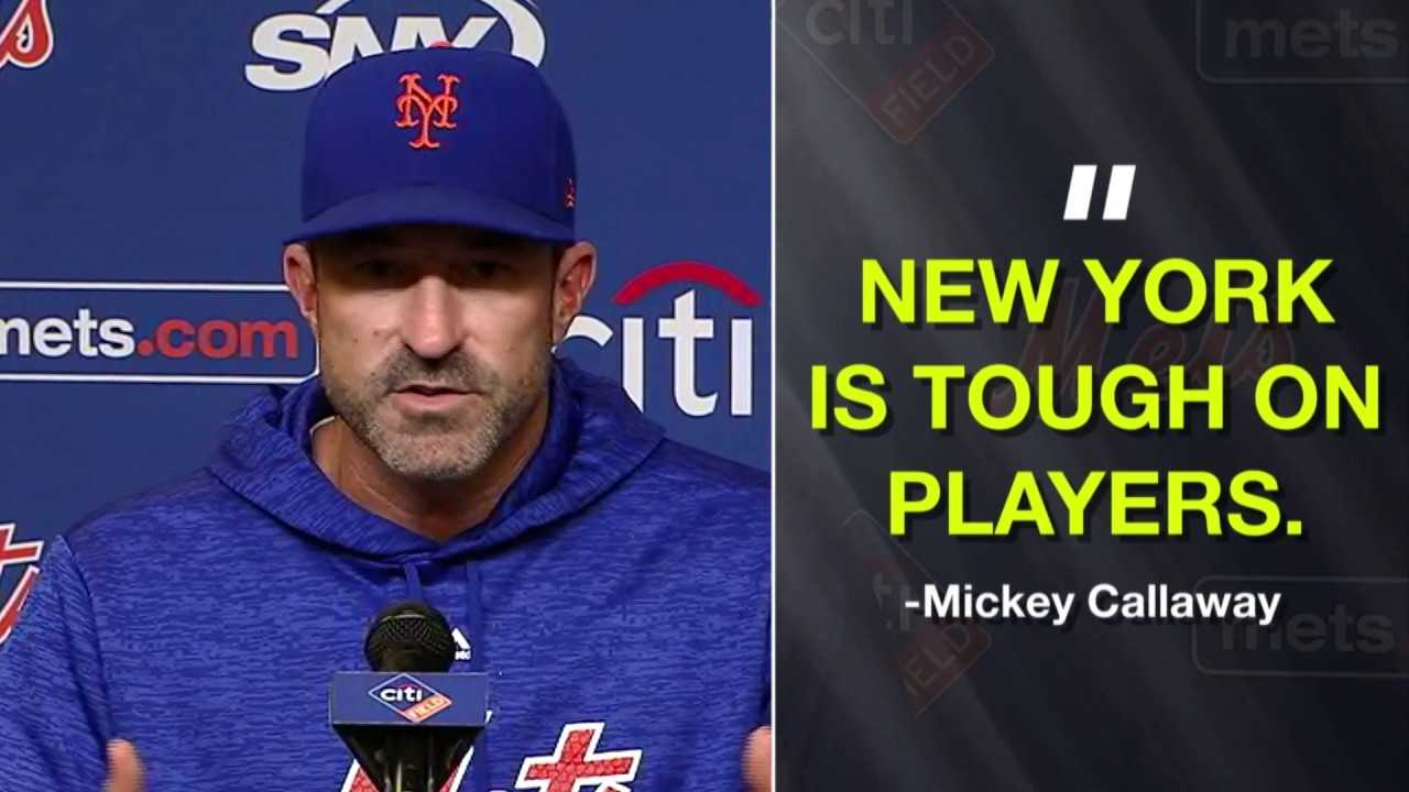 """Mets manager Mickey Callaway: """"New York is tough on players"""""""