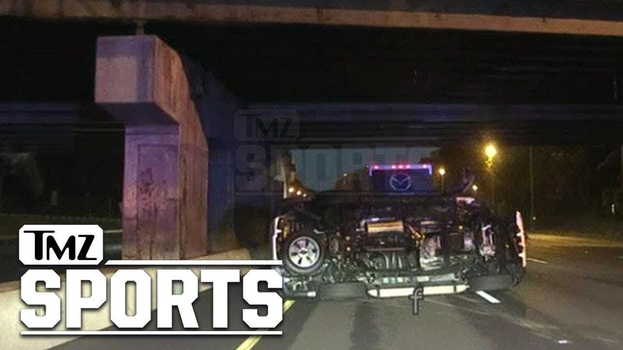 NY Jets Chris Herndon DUI Crash Video Shows Frightening Wreckage | TMZ Sports