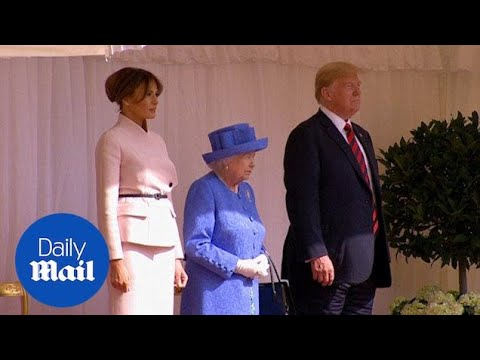 Queen Elizabeth welcomes Trump and wife to Windsor Castle - Daily Mail