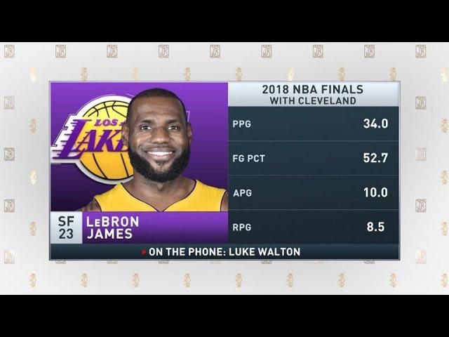 The Jim Rome Show: Luke Walton talks LeBron James joining Lakers