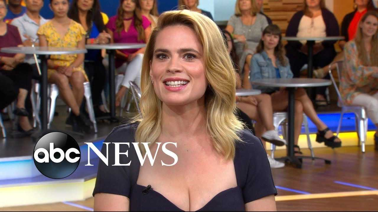 Hayley Atwell discusses the new 'Christopher Robin' film live on 'GMA'