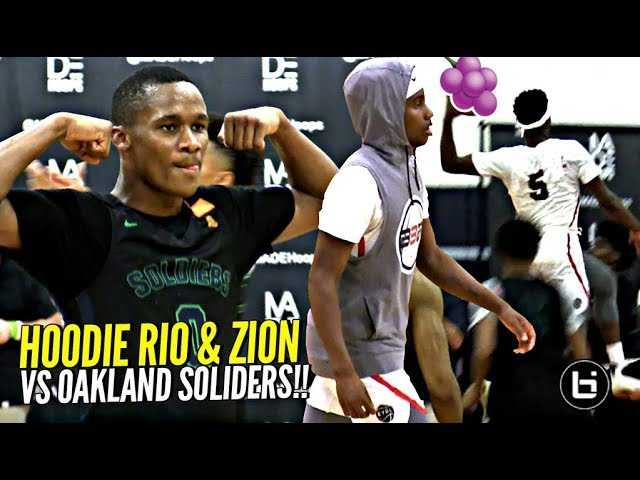 Hoodie Rio CRAZY JELLY!! Zion Harmon & Rio TEAM UP vs Scottie Pippen & Kenyon Martin Jr!!