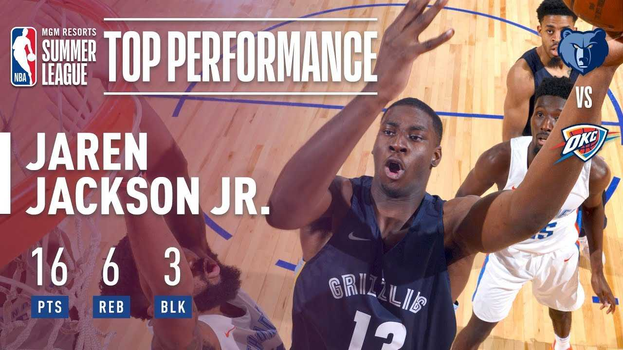 Jaren Jackson Jr Leads Memphis To Victory Over OKC In The 2018 MGM Resorts Summer League