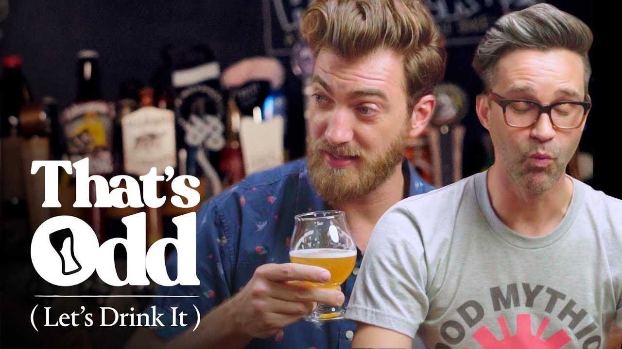 Rhett & Link Taste a Beer Made with Human Saliva   That's Odd, Let's Drink It