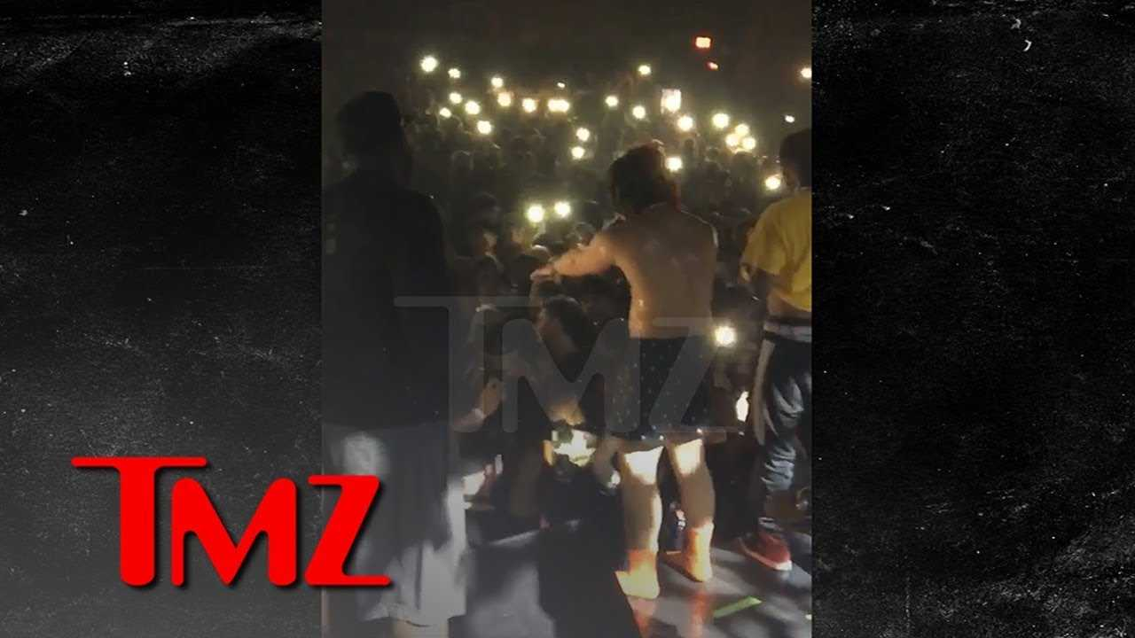 Trippie Redd Stops Show to Help Passed Out Fan | TMZ