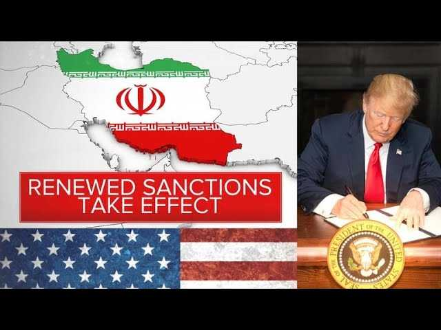 Trump reimposes sanctions on Iran