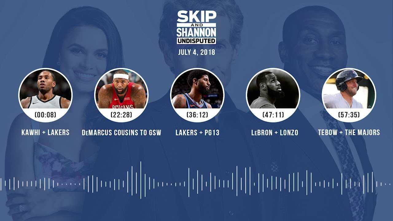 UNDISPUTED Audio Podcast (7.4.18) with Skip Bayless and Shannon Sharpe | UNDISPUTED