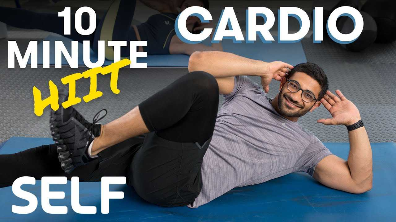 10 Minute Full Body Tabata Cardio HIIT Workout - No Equipment With Warm-Up and Cool-Down | SELF