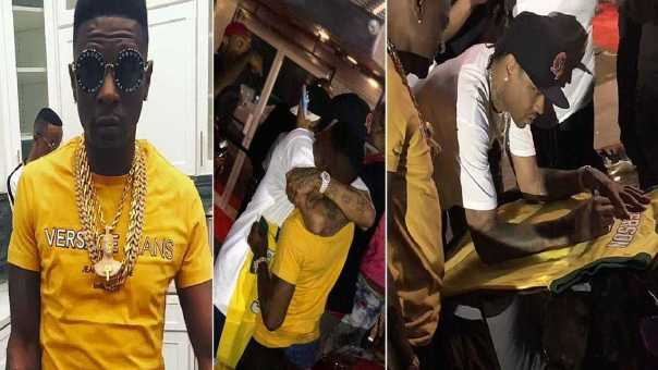 Boosie Meets Allen Iverson At The Club & Gets Him To Sign Jersey