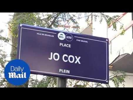 Brussels mayor names city centre square after murdered MP Jo Cox