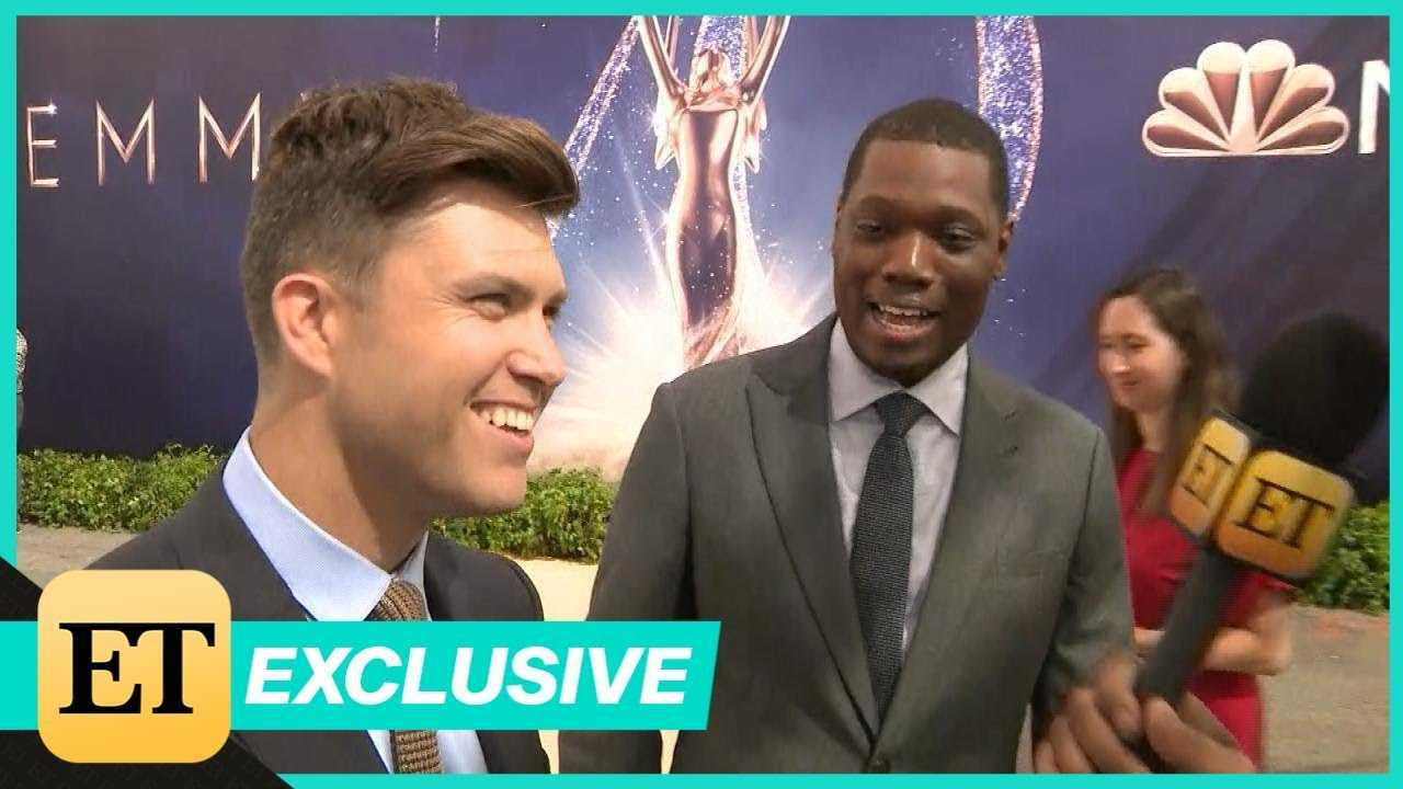 Colin Jost and Michael Che Play Coy About Their Emmy Dates (Exclusive)