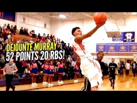 Dejounte Murray SAUCES UP For 52 Points & 20 RBS Back In High School!! BREAKOUT SEASON COMING!?