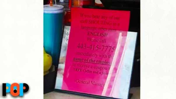 Dunkin Donuts Manager Posts Racist Sign In Store, Gets Fired