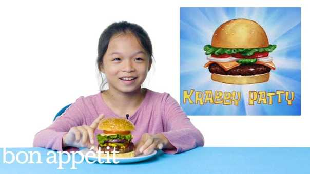 Kids Try Famous Foods From Cartoons, From Spongebob to The Simpsons | Bon Appétit