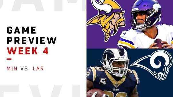Minnesota Vikings vs. Los Angeles Rams   Week 4 Game Preview   NFL