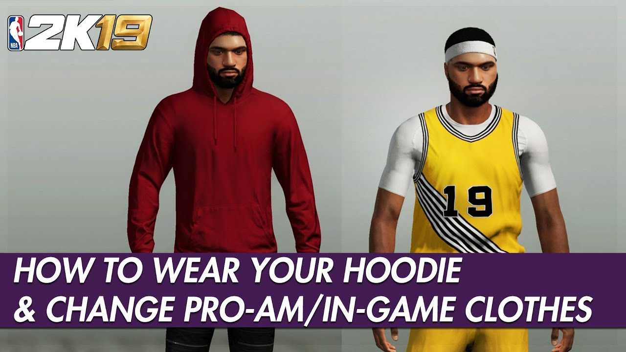 NBA 2K19 Tutorial - How To Put The Hoodie On & Equip Your Pro-Am/In-Game Accessories