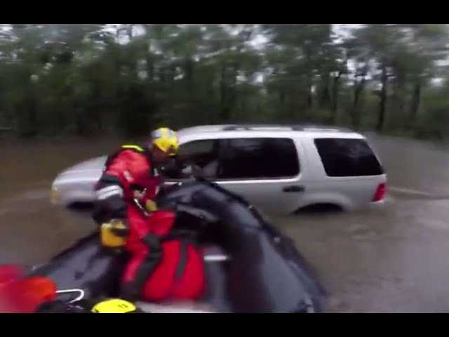RAW VIDEO: L.A. crews rescue man from flooded car in Cumberland County