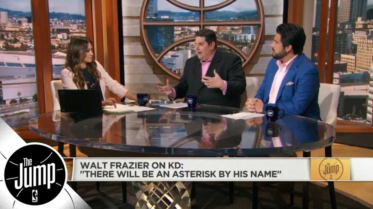 Reacting to Walt Frazier's Kevin Durant 'asterisk' comments | The Jump | ESPN
