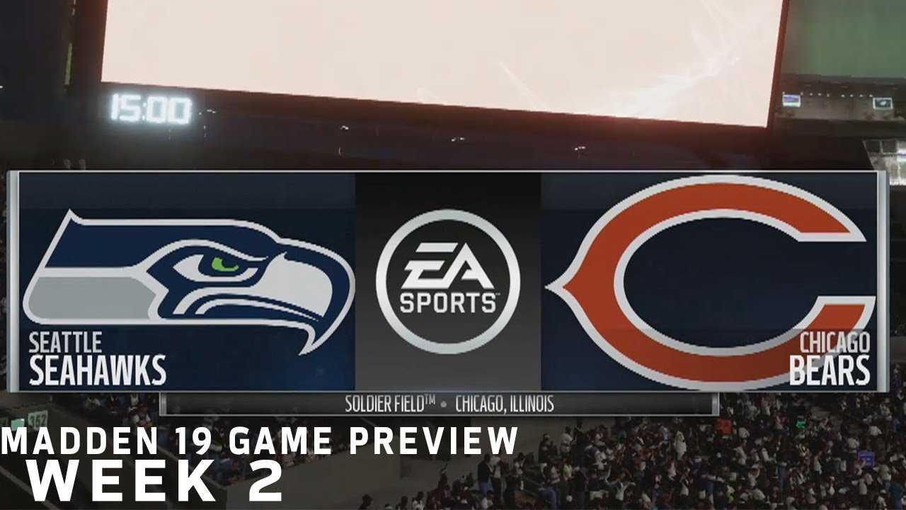 Seahawks vs. Bears Madden 19 Simulation | Week 2 Game Preview | NFL