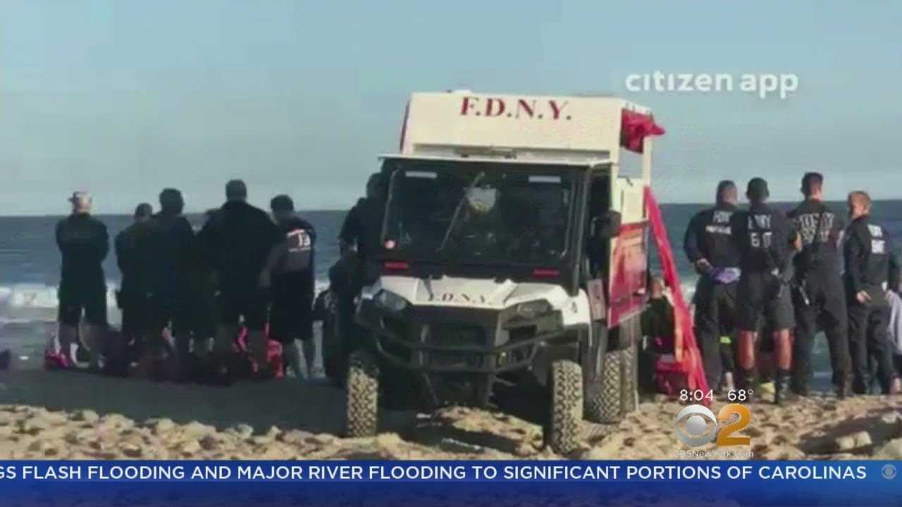 Search Continues For Missing Teen Swimmer At Rockaway Beach