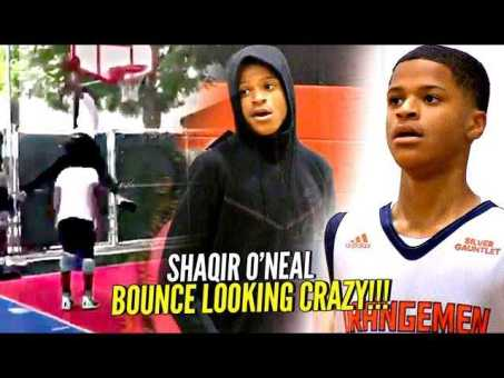 Shaqir O'Neal CRAZY Windmill OVER 6'6″ Person w/ Bronny Watching!! BOUNCE looking CRAZY!!
