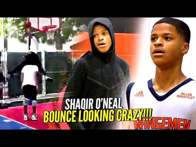"""Shaqir O'Neal CRAZY Windmill OVER 6'6"""" Person w/ Bronny Watching!! BOUNCE looking CRAZY!!"""