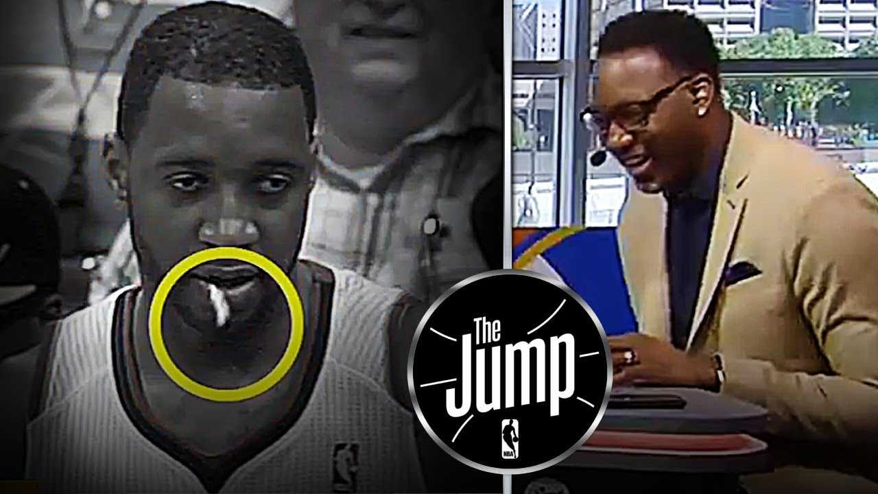 Tracy McGrady Reacts To Gum Popping Out Of His Mouth In Middle Of Game | The Jump