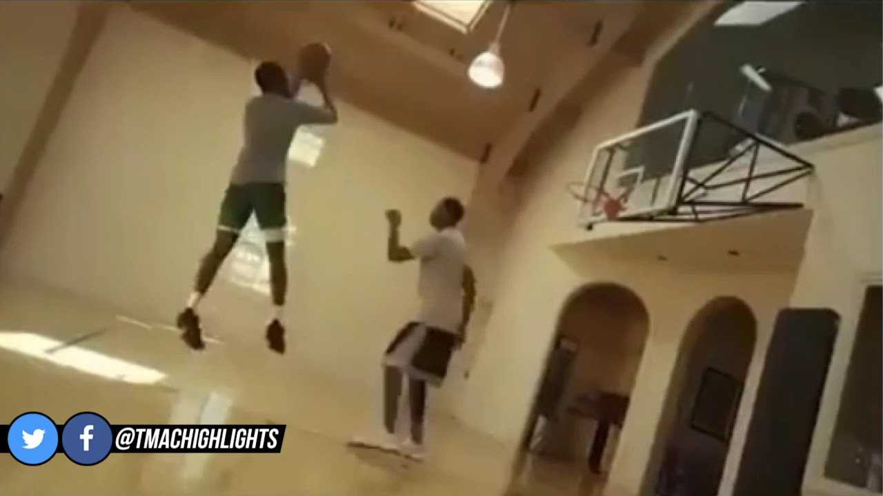 Tracy McGrady Teaching Jaylen Brown Some Of His Moves | July 15, 2018