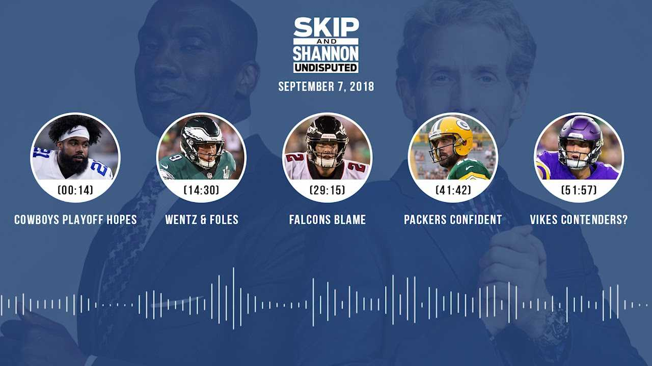 UNDISPUTED Audio Podcast (9.07.18) with Skip Bayless, Shannon Sharpe & Jenny Taft   UNDISPUTED