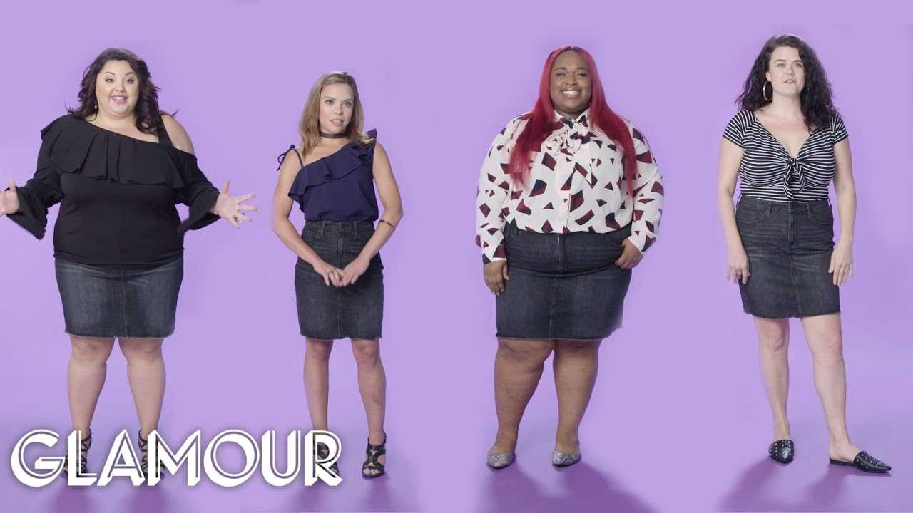 Women Sizes 0 to 26 Try On the Same Mini Skirt   Glamour