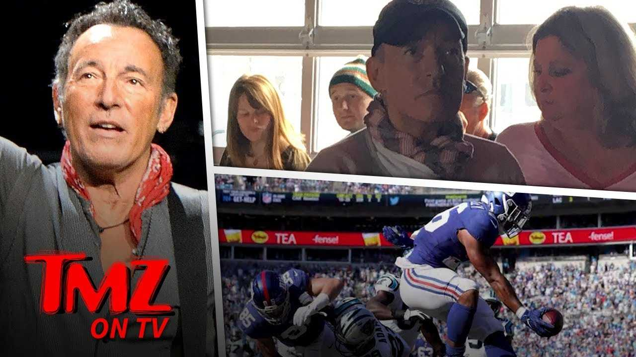Bruce Springsteen Catches A Football Game At A Local Bar | TMZ TV