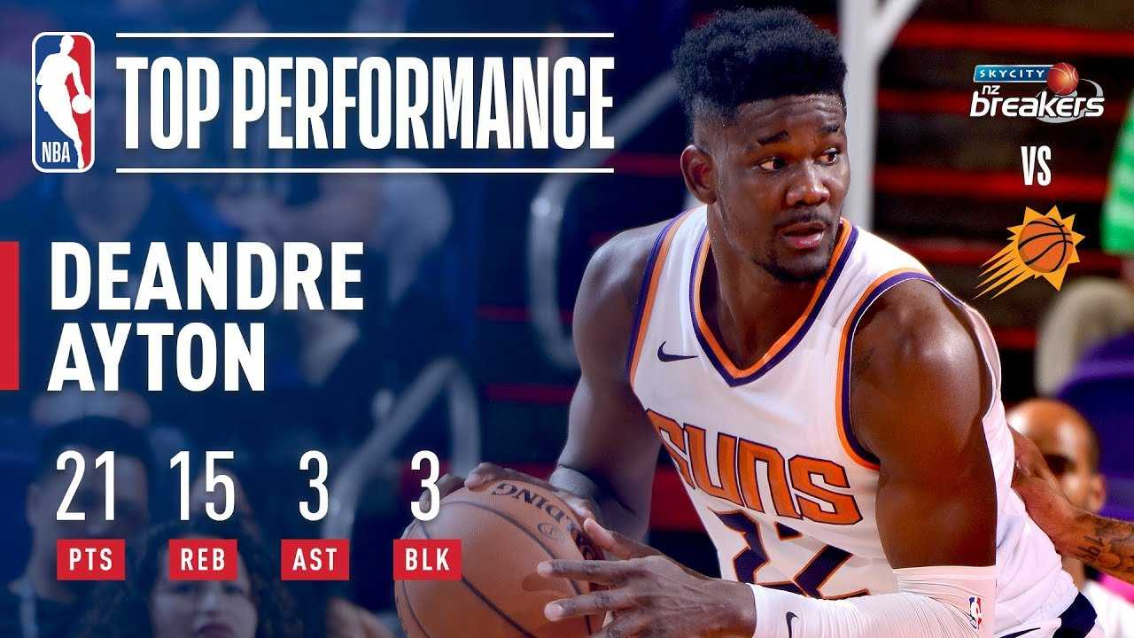 Deandre Ayton PATROLS the Paint in 2nd Preseason Game
