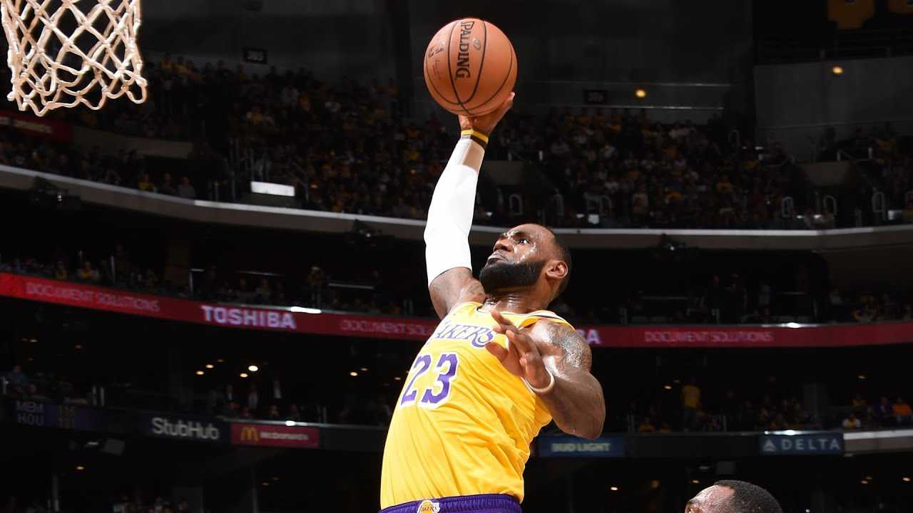 EVERY ANGLE: LeBron's 1st Dunk in a Lakers Uniform!