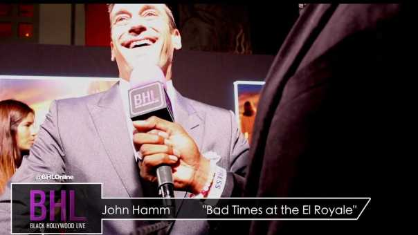 """John Hamm Interview at the World Priemere of """"Bad times at the El Royale"""""""