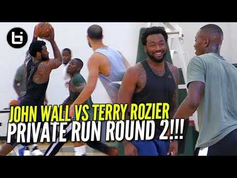 John Wall VS Terry Rozier Round 2 At Private NBA Run!