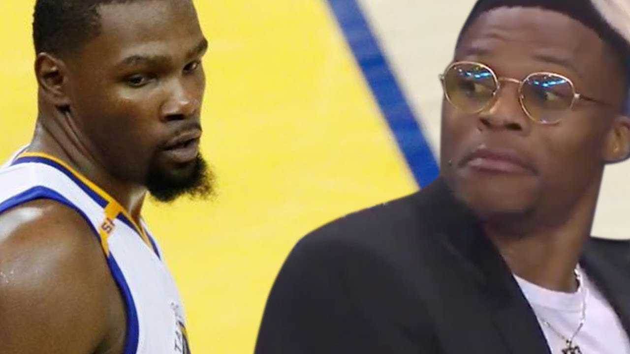 Kevin Durant Gives Russell Westbrook The DEATH STARE After Massive BLOCK!