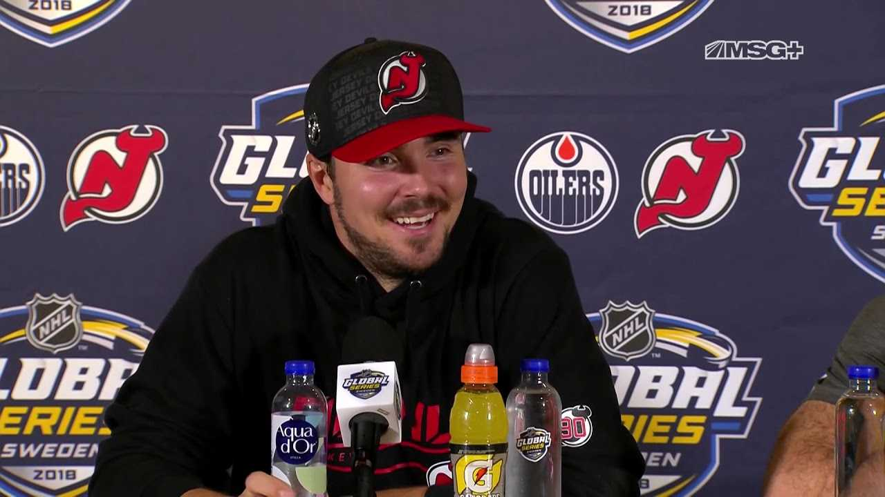 Marcus Johansson, Kyle Palmieri Press Conference | New Jersey Devils | MSG Networks
