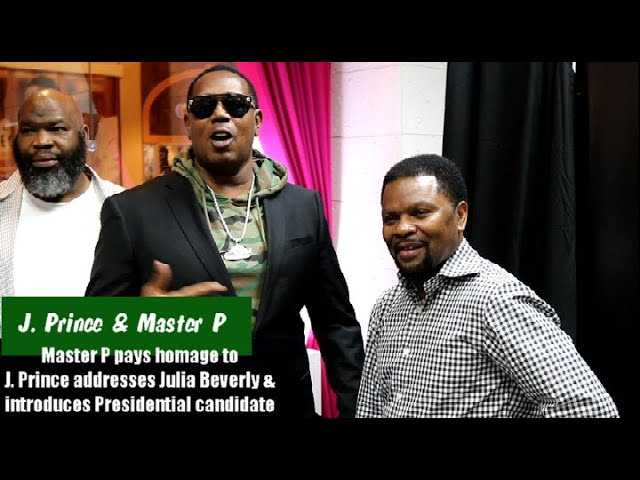 Master P Surprises J. Prince At Book Signing, Addresses Julia Beverly & Introduces Next President