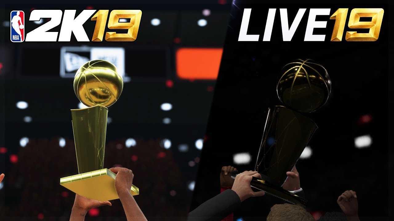NBA 2K19 vs NBA LIVE 19 Finals Celebration Comparison