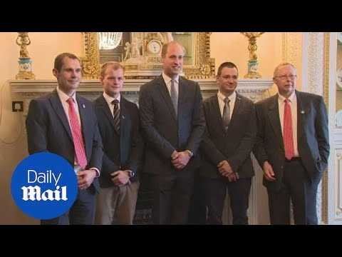 Prince William meets British divers who helped rescue Thai cave boys