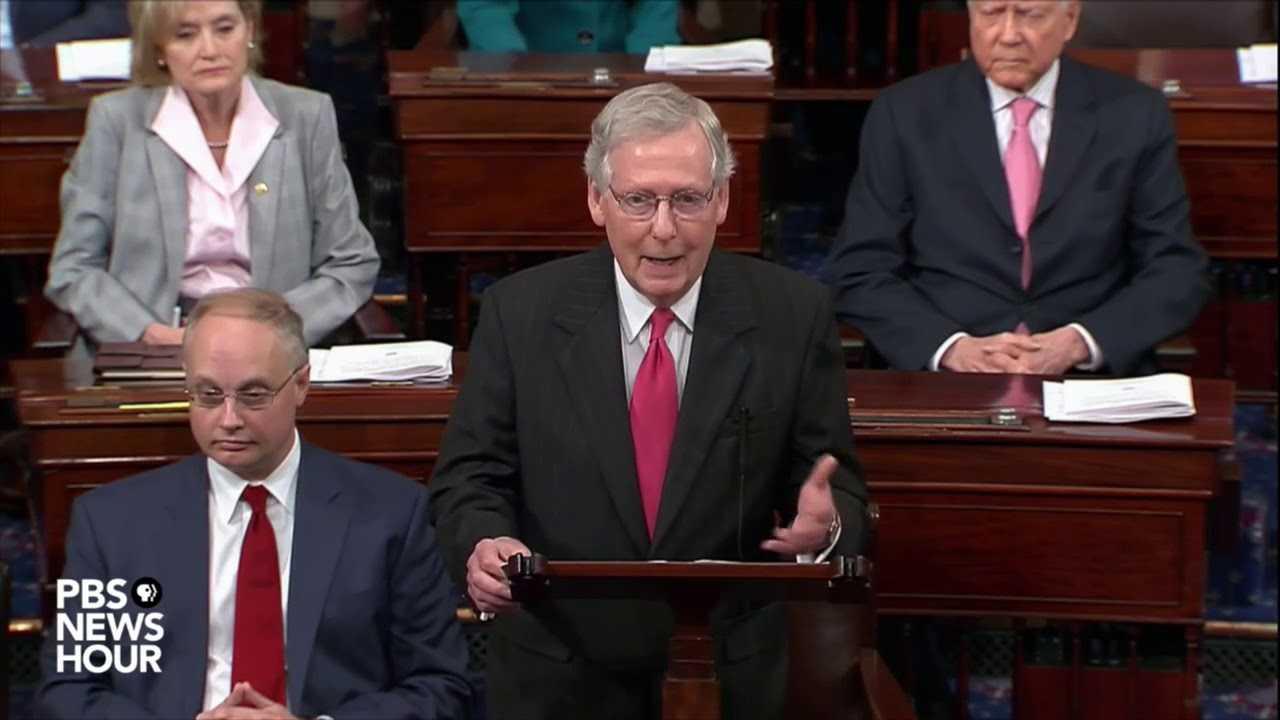 Sen. Mitch McConnell accuses Democrats of partisanship, bias against Kavanaugh
