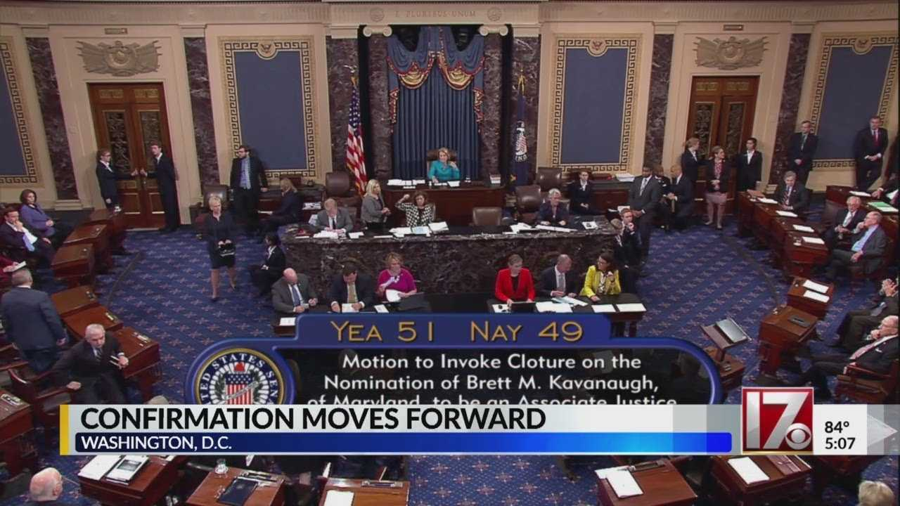 Senate votes for Kavanaugh confirmation to move forward